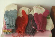 вязание - варежки