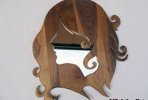 lustra - wooden mirror