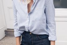 Cute shirts for fall / A collection of cute outfits for fall with a button-down shirt.