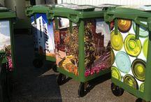Smukt affald / Store containere kan blive flotte og gøre dig affaldsglad.