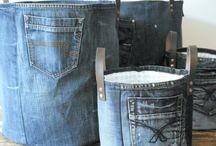 panier en jean