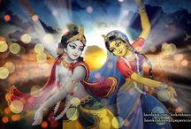 Art Work - Radha Krishna / Beautifull wallpapers of Radha Krishna maid by ISKCON Desire Tree