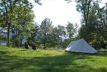 Mooie, groene, kleine campings