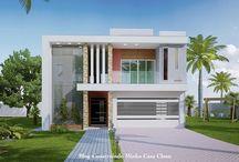 Fachadas de Casas Modernas com Brises!!! / Veja + Inspirações e Dicas de decoração no blog!  www.construindominhacasaclean.com