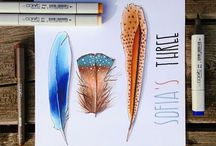 feathers by Ana