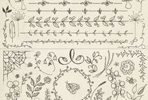Drawing, template, pattern, sablonok