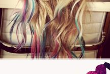 A pop of color / hair colour ideas