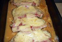 Cotes de porcs jambon fromages