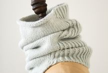 Knit cowls and scarfs