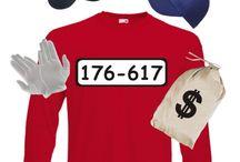 Panzerknacker Kostüme mit Wunschnummern / Die Gangster sind los