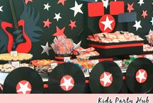 Rockstar Party / Rockstar themed birthday party and dessert table