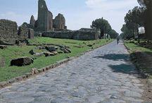 vie e strade - roads / « I Romani posero ogni cura in tre cose soprattutto, che dai Greci furono trascurate, cioè nell'aprire le strade, nel costruire acquedotti e nel disporre nel sottosuolo le cloache » Strabone, Geografia, V 3,8