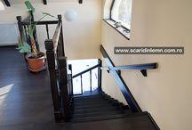 Scari interioare din lemn / Galerii cu scari interioare din lemn