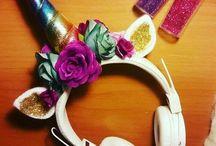 Unicorn head accessories