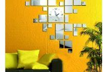 CS: 3D nástěnné nalepovací hodiny, zrcadlové a barevné hodiny na stěnu, dekorace jako obraz