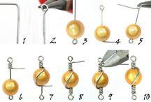 Návody na výrobu šperků / Výroba náušnic