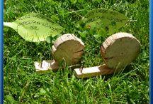 Holztiere Schnecke