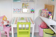 Garden | Kids | Playhouse / Ideas on how to decorate the kids playhouse