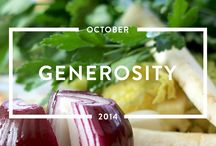 Generosity - October 2014 / Read the #generosity issue of mindful matter http://www.holstee.com/blogs/mindful-matter / by HOLSTEE