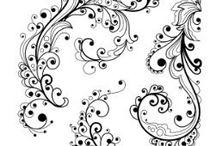 kreslené Flourishes+