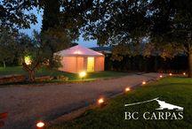 Baños efímeros / Bathroom tents / http://www.bc-carpas.com/product/carpa-para-banos/