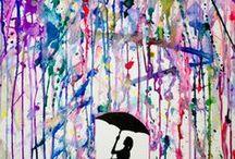 mokre w mokrym parasol