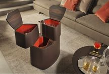 BABEL, design Roberto Lazzeroni / Babel is a compact home bar unit comprising three cupboards in two different sizes.