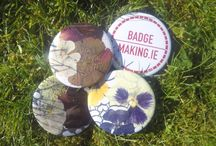 Handmade Badges / Badges designed and made by hand at our various badge making events.