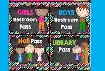 Hall Passes - Classroom Decor