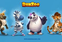 RunZoo / Images from the RunZoo mobile cooperative game by Bandura Games