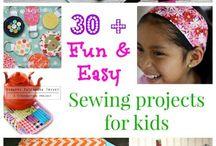 Girls sewing