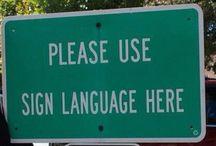 Język migowy / Świat Głuchych- sign language / Deaf