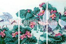 Triptych bead embroidery DIY kit