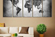 World map decals