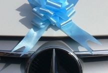 Decorative Bows, Bows, Bows / Decorative bows for cars, church pews, reception venues, etc