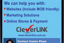 What and How CleverLINK can help you / We can help you if you  want to start-up a new business or if you already have a business but need improvements.   We can help you to create a new brand, Website, take care of your business card design &  printing, set up domain & hosting and much more