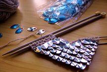 Вязание с пайетками