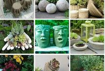 Garden  backyard  stone  art