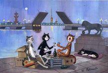 Питерские коты Татьяны Родионовой