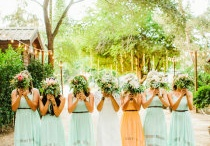 { of mint and peach weddings }