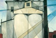 """Precisionism / The Precisionist style, which first emerged after World War I and was at the height of its popularity during the 1920s and early 1930s, celebrated the new American landscape of skyscrapers, bridges, and factories in a form that has also been called """"Cubist-Realism."""" The term """"Precisionism"""" was first coined in the mid-1920s. The stiffness of both art-historical labels suggests the difficulties contemporary critics had in attempting to characterize these artists."""