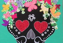 Calaveras Mexicanas de IBIZA Sparkly Art / decoration