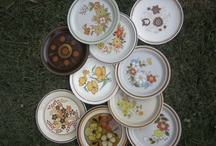 Our New Rustic  Retro plates!! / We have about 65 of these but adding to our numbers every week! / by The Vintage Chicks China Rental
