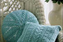 Almofadas de tricô e crochet