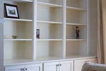 Built in cabinets & shelves