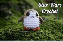 Knitting, crochet, cross stitch