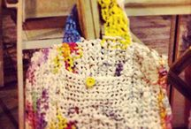 Crocheted plastic bag / I crocheted a bag from recycled plastic