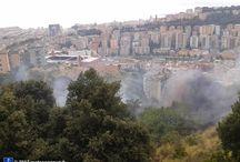 Incendio Marassi / Incendio alture di Marassi nel triangolo tra Via Giglioli, Via Fea (sotto il Biscione), Via Monte Rosa. 18 agosto 2013 ore 14:40.