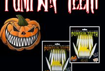 DRESS UP YOUR PUMPKIN THIS YEAR FOR HALLOWEEN / This Halloween, give your Jack-O-Lantern something to smile about with PUMPKIN TEETH - there's nothing else like it!  Pumpkin Teeth are long white plastic teeth that you can embed into your pumpkin (or gourd, melon, whatever you want!) They come in 3 sizes and can be re-used, making every Halloween just a little bit spookier!   CHECK THEM OUT AT - http:// holidayprojection.com