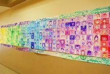 Omakuvat jokaisella luokalla oma väri
